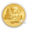 1 Unze Gold Mickey Christmas 2019