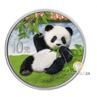 30g Silber China Panda 2020 col.