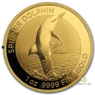 1 Unze Gold Bottlenose Dolphin (Delfin) 2019