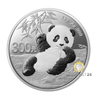1 kg Silber China Panda 2020 (Polierte Platte)