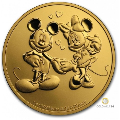 1 Unze Gold Mickey & Minnie Mouse 2020