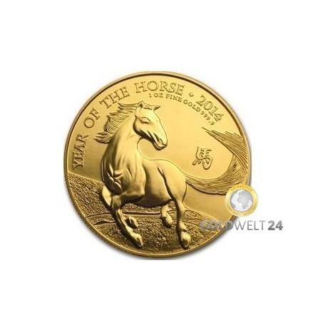 1 Unze Gold U.K. Pferd 2014