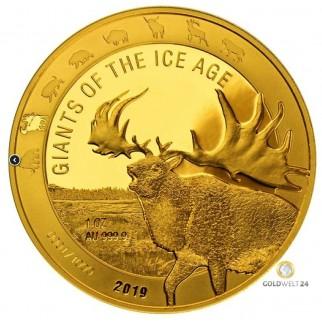 1 Unze Gold Giganten der Eiszeit - Wollmammut 2019