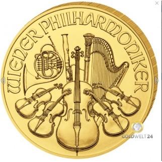 1 Unze Gold Wiener Philharmoniker 2020