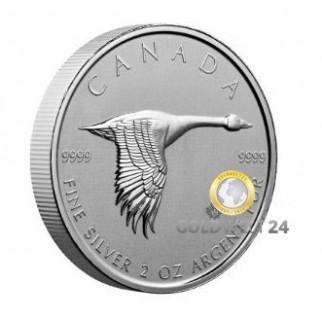 2 Unzen Silber Goose (Gans) 2020
