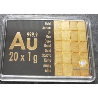 20 g Tafelbarren Gold