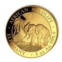 5 Unzen Gold Somalia Elefant 2017 PP