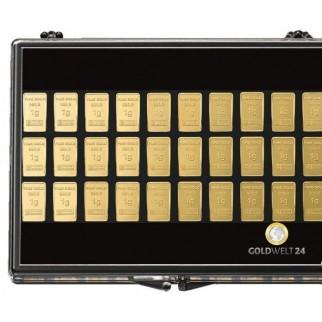 30 x 1 Gramm Goldbarren UnityBar