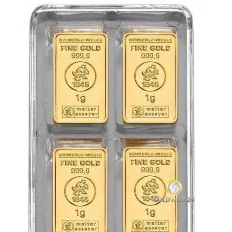100 x 1 Gramm Goldbarren UnityBox (H&M)