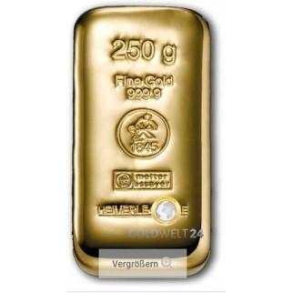 250g Goldbarren Gussbarren Heimerle+Meule
