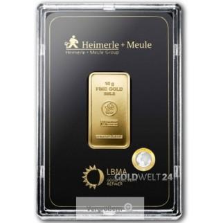 10g Goldbarren Heimerle+Meule