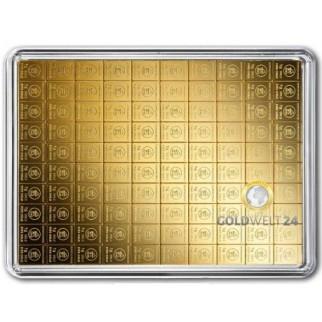 50 g Gold Tafelbarren Combibarren (Goldplättchen)