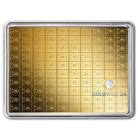 100g Gold Tafelbarren Combibarren (Goldplättchen) H&M