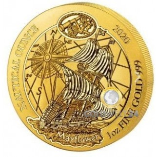 1 Unze Gold Ruanda Nautical Ounce Mayflower 2020