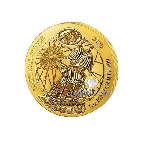 1 Unze Gold Ruanda Nautical Ounce Mayflower 2020