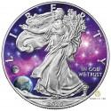 1 Unze Silber American Eagle Glowing Galaxy 2020