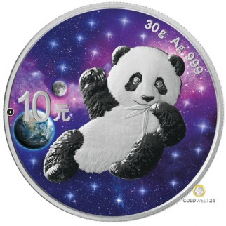 30g Silber China Panda Glowing Galaxy 2020