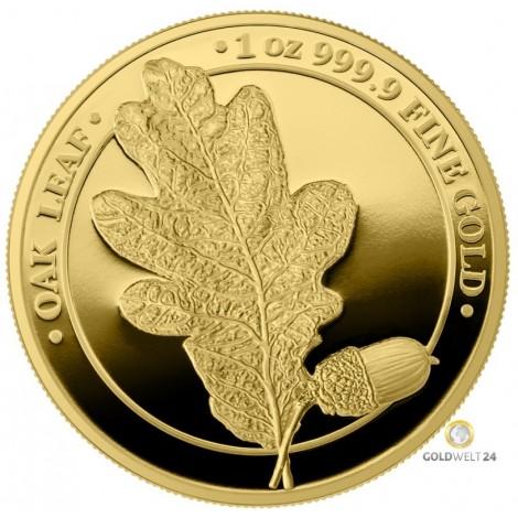 1 Unze Gold Eichenblatt 2019 PP