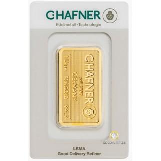 1 Unze Goldbarren Hafner