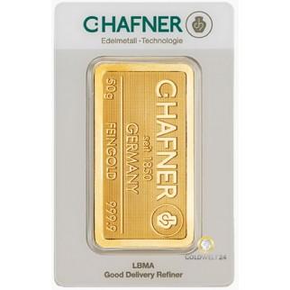 50g Goldbarren Hafner