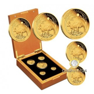 5 Coin Set Känguru Nugget 2019 Polierte Platte