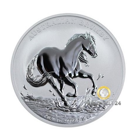 1 Unze Silber Australian Brumby 2020 (Stock Horse)