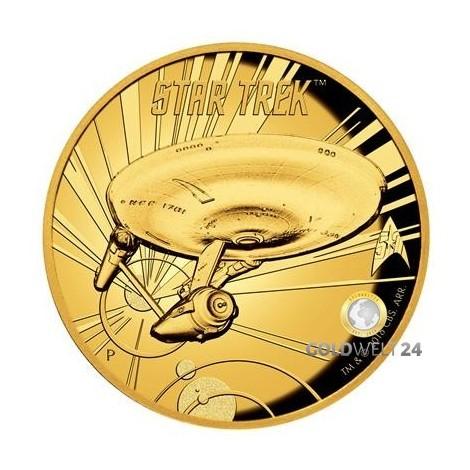 1 Unze Gold U.S.S. Enterprise High Relief 50 J. Star Trek