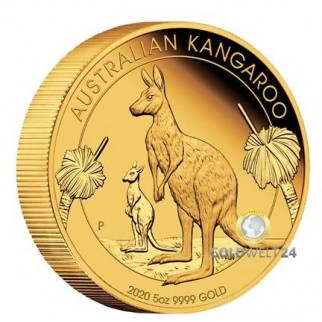 5 Unzen Gold Känguru 2020 Proof