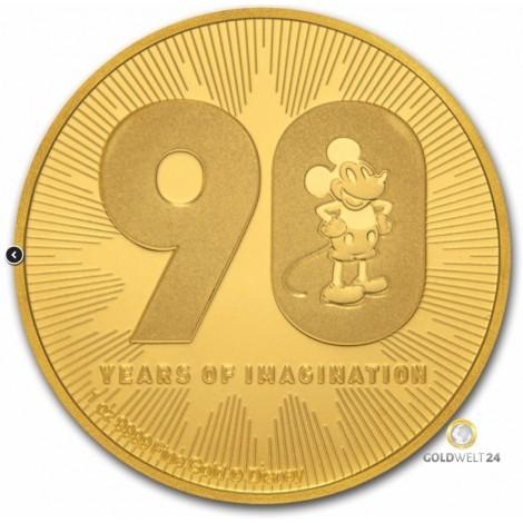 1 Unze Gold Disney Mickey 90. Jahrestag 2018