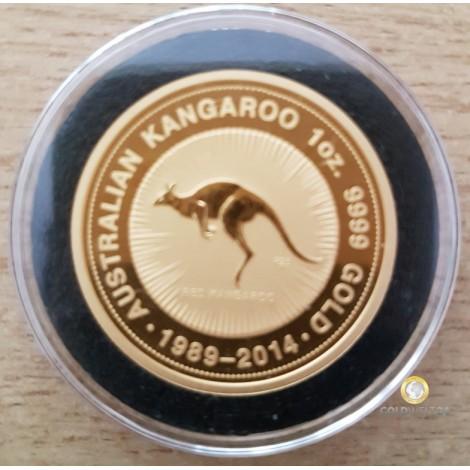 1 Unze Gold Känguru Jubiläum Nugget 1989-2014