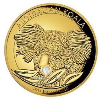 2 Unzen Gold Koala High Relief 2014