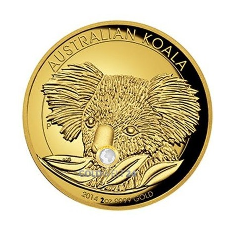 2 Unzen Gold Koala High Relief 2014