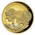 2 Unzen Gold Koala High Relief Zert Nr .1 2014