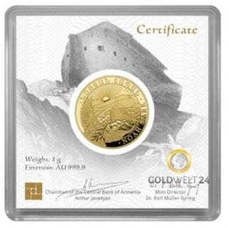 1 Gramm Gold Arche Noah 2020