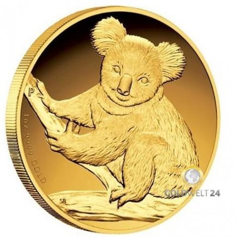 1 Unze Gold Koala High Relief 2009
