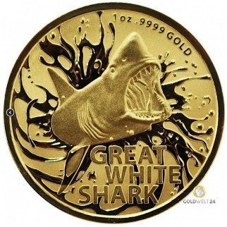 1 Unze Gold Great White Shark 2021
