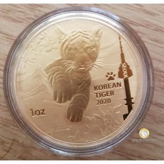 1 Unze Gold South Korea Tiger 2020