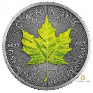 1 Unze Silber Maple Leaf Four Seasons Spring Antik Finish 2020