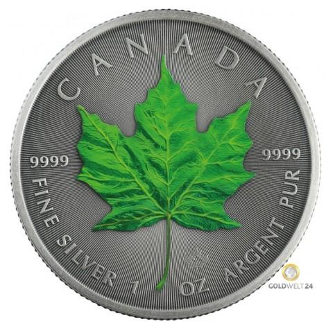 1 Unze Silber Maple Leaf Four Seasons Summer Antik Finish