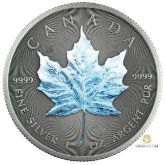 1 Unze Silber Maple Leaf Four Seasons Winter Antik Finish