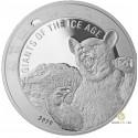 1 Unze Silber Giganten der Eiszeit - Höhlenbär 2020