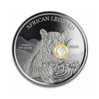 1 Unze Silber Ghana Leopard 2020