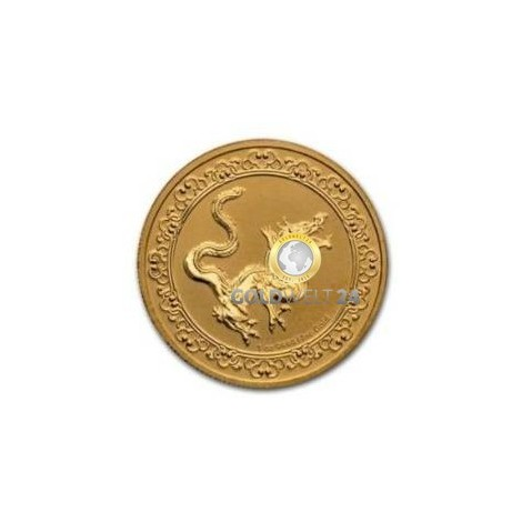 1 Unze Gold the yellow snake