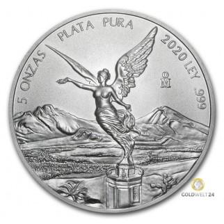 5 Unzen Silber Libertad 2020