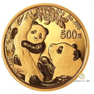 30g Gold China Panda 2021