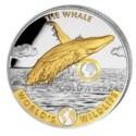 1 Unze Silber World´s Wildlife Wal gilded 2020
