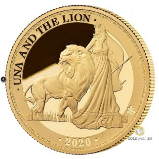 1 Unze Gold St. Helena Una and the Lion PP