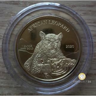 1 Unze Gold Ghana Leopard 2020 PP