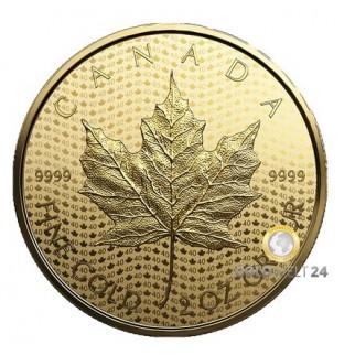 2 Unzen Gold Maple Leaf Reverse Proof