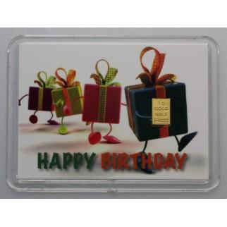"1 g Goldbarren ""Happy Birthday"" (Kippbild)"